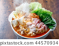 kimchi hotpot, pot, food cooked in a pot 44570934
