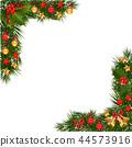 Christmas Garland Border 44573916
