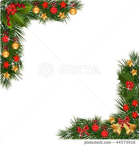 Christmas Garland Border , Stock Illustration [44573916] , PIXTA