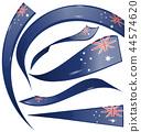 australia flag set isolated on white background 44574620