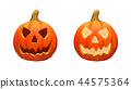 Halloween pumpkins isolated on the white backgroun 44575364