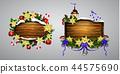 Vector wooden christmas board 44575690