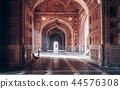 Morning light inside the mosque of Taj Mahal 44576308