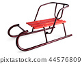 Classic sled on white. 44576809