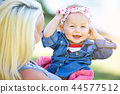 Young Caucasian Mother and Daughter At The Park 44577512