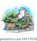 Typical Parisian house, France 44577678
