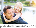 child, girl, father 44577773
