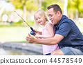 child, girl, father 44578549