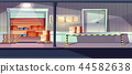 Warehouse entrance with gates and ramp vector 44582638