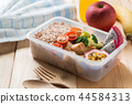 Healthy lunch boxes in plastic package, Diet food 44584313