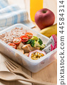 Healthy lunch boxes in plastic package, Diet food 44584314