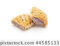 taro pies on white 44585133