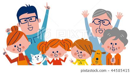 Three generations family 44585415