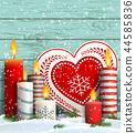 christmas candles snow 44585836