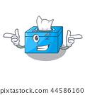 Wink cartoon tissue box in the restaurant 44586160