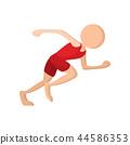 Runner cartoon icon  44586353