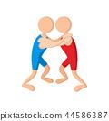 Wrestlers cartoon icon 44586387