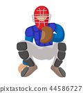 Baseball catcher cartoon icon 44586727