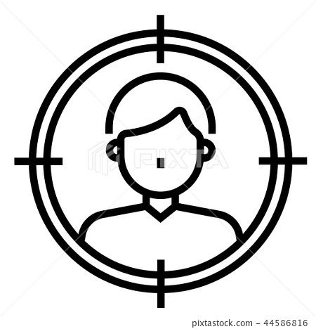 Consumer target Line illustration 44586816