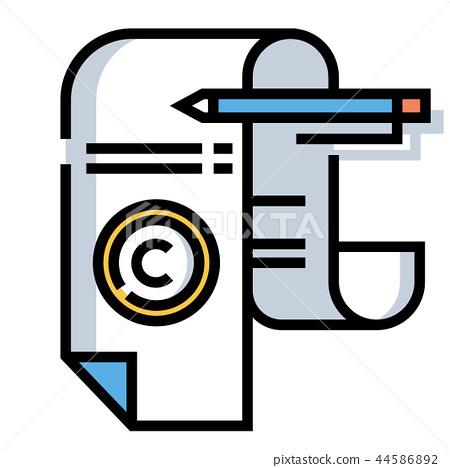 Copyright LineColor illustration 44586892