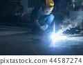 Welder Industrial automotive part in factory. 44587274