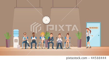Job Interview and Recruiting. Vector Illustration. 44588444