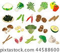 食物插圖[蔬菜圖標集] 2 44588600