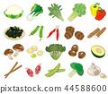 vegetables, vegetable, foodstuff 44588600