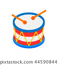 Drum of Independence Day isometric 3d icon  44590844