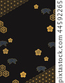 Black and gold japanese pattern background 44592265