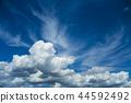 积雨云 蓝天 蓝蓝的天空 44592492