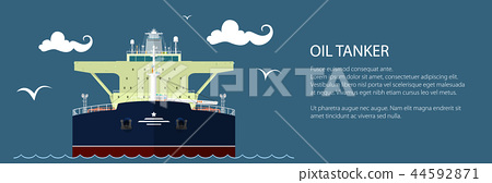 Front View of Oil Tanker Banner 44592871