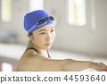 여성, 여자, 수영장 44593640