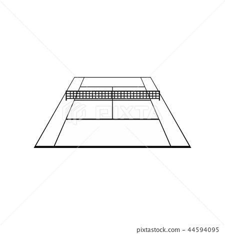 Tennis court black simple icon 44594095