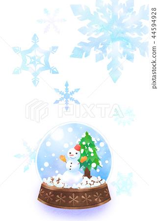 雪圓頂和雪花 44594928