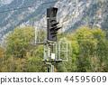 Electric signal traffic light of a railroad 44595609