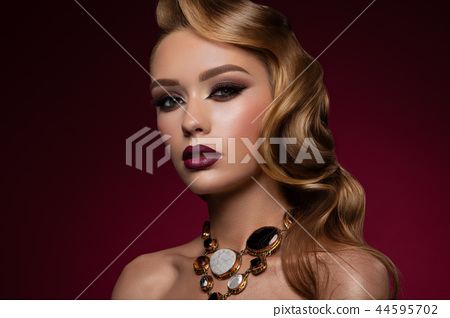 Close-up portrait of sexy caucasian young woman 44595702