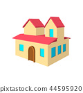 House with a mansards cartoon icon 44595920