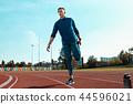 man, jogging, woman 44596021