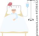 질병 · 부상의 입원 일러스트 44596432