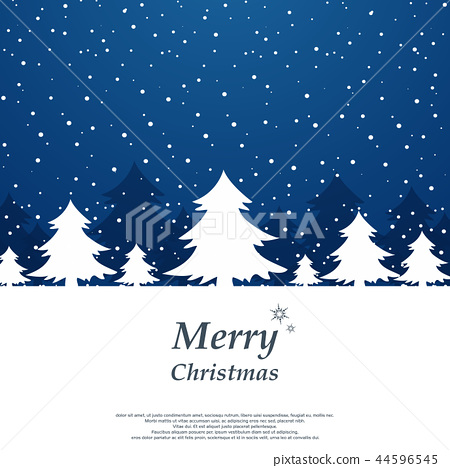 Abstract of simple Christmas background with trees 44596545