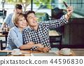 selfie, couple, mobile 44596830