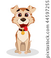 Cute funny dog. Puppy cartoon character 44597255