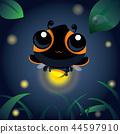 夜晚的萤火虫 昆虫 虫子 44597910