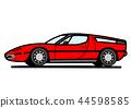 意大利體育小轎車紅色汽車例證 44598585
