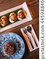 Thai food on dinner table, Deep fried stuffed crab 44598846