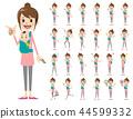 父母和孩子的表达,手势集 44599332