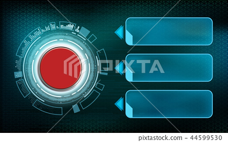 Red futuristic button with frame infographics 44599530