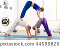 yoga, man, woman 44599820