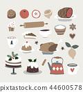food, christmas, vector 44600578